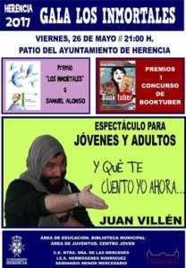 """Cartel clausura Los Inmortales 208x300 - Juan Villén actuará en la I Gala """"Los Inmortales"""""""