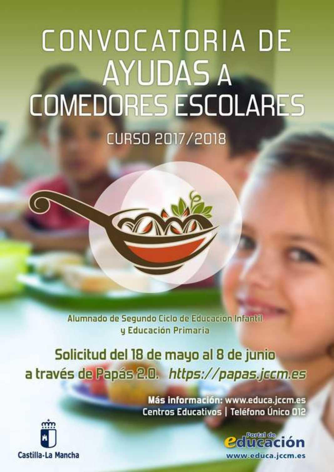 CartelComedoresEscolares2017 1068x1511 - Convocatoria de Ayudas a Comedores Escolares. Curso 2017/2018