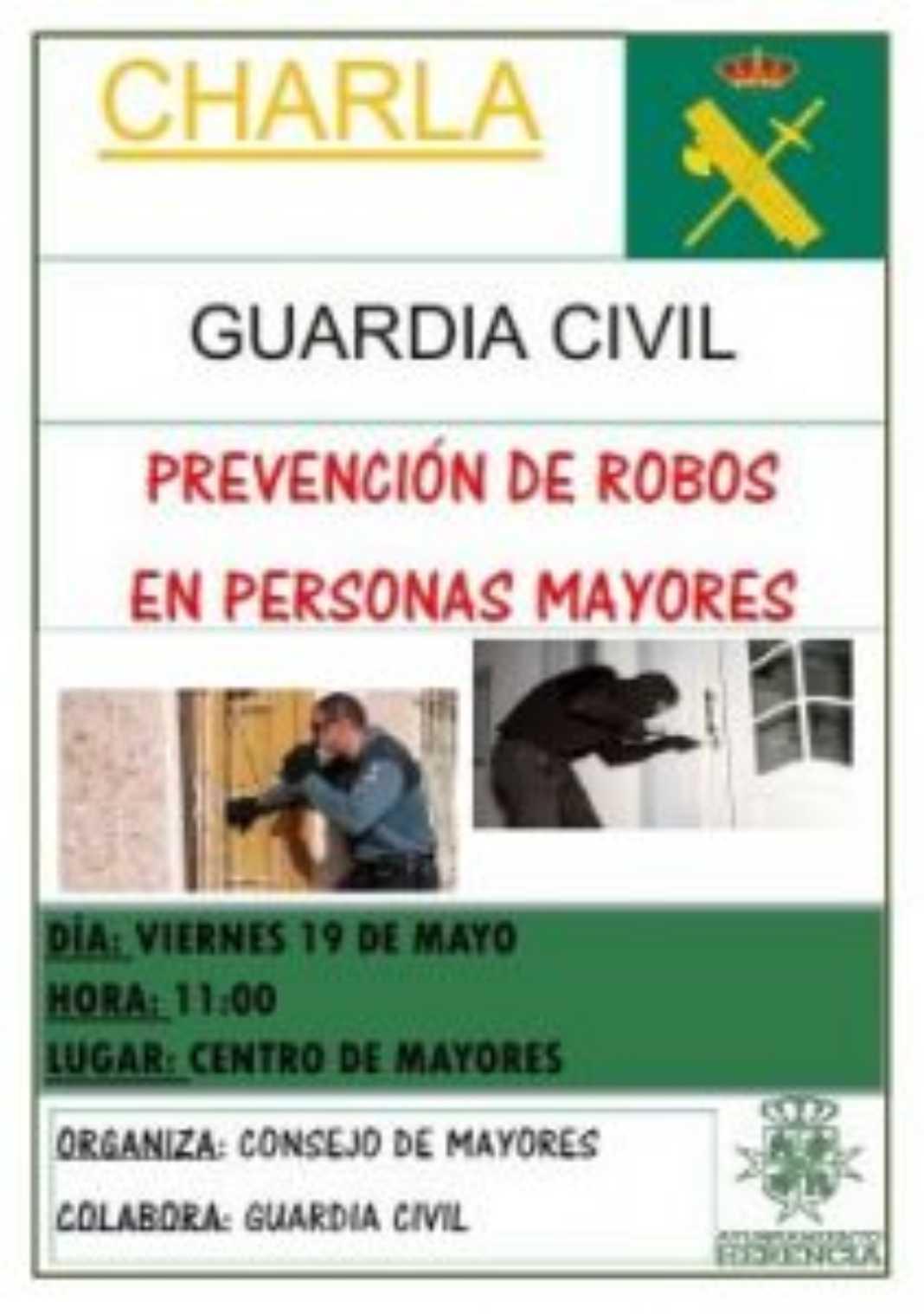 Charla mayores robos 1068x1518 - La Guardia Civil  de Herencia realiza una charla para prevenir los robos
