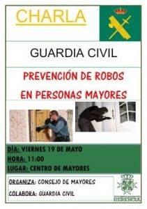 Charla mayores robos - La Guardia Civil  de Herencia realiza una charla para prevenir los robos