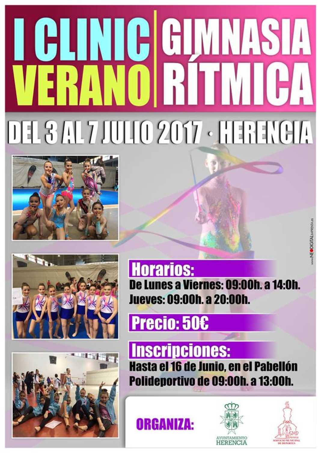 Clinic Gimnasia Ritmica 1068x1503 - Este verano tendrá lugar el I Clinic de Gimnasia Rítmica en Herencia