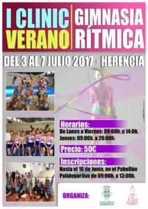 Este verano tendrá lugar el I Clinic de Gimnasia Rítmica en Herencia 1
