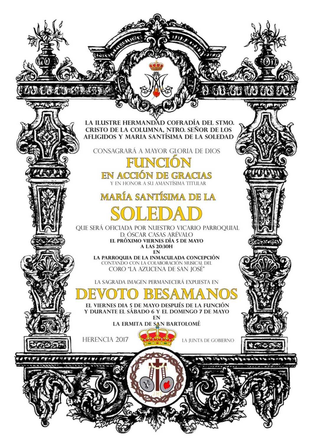 Función de Acción de Gracias y besamanos, en honor a  María Santísima de la Soledad 2