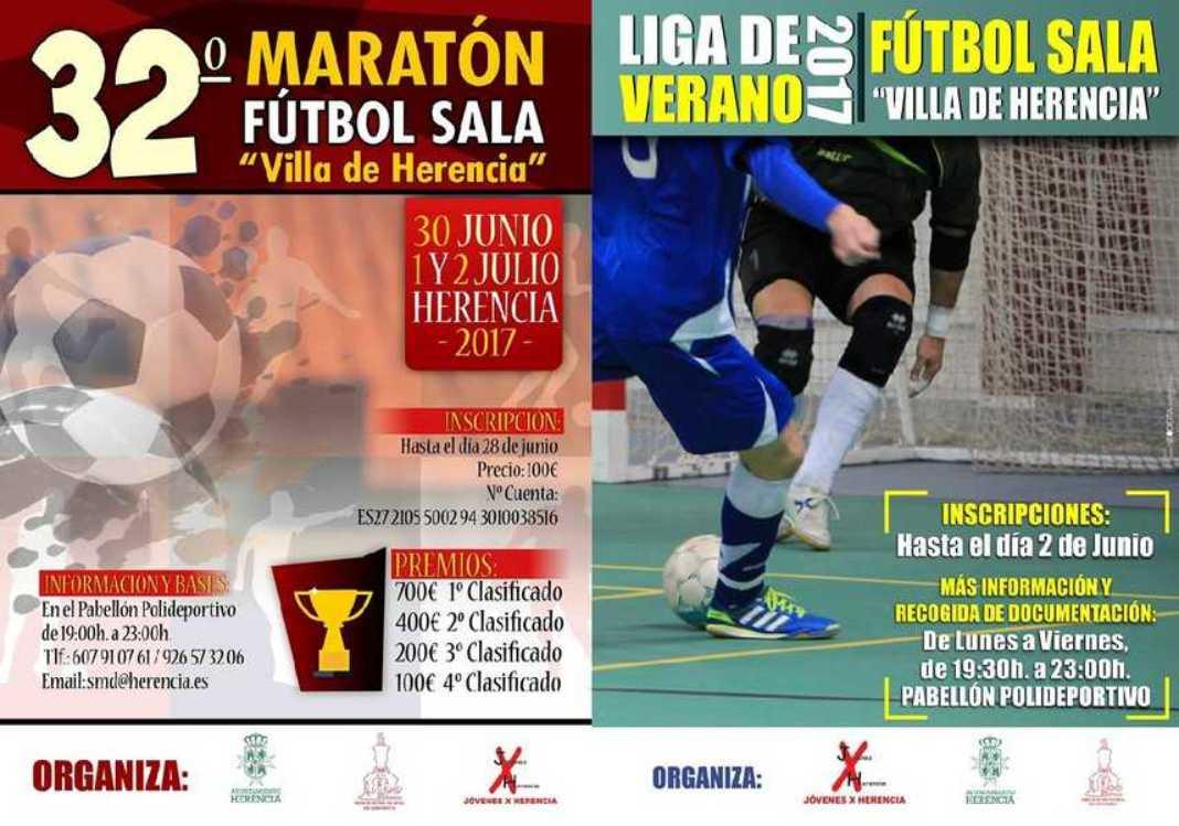 Abierta inscripciones para 32º Maratón Fútbol Sala y La Liga de Verano 3