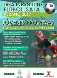 """Liga Infantil Futbol Sala 218x300 - Liga Infantil de Fútbol Sala """"Jóvenes Promesas"""" y Liga de Fútbol 7"""