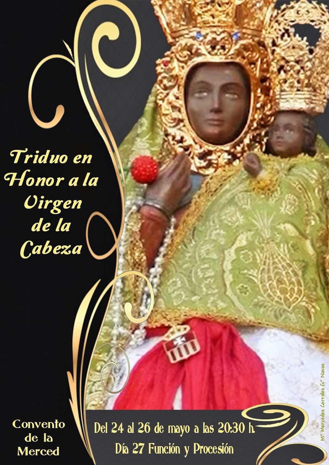 Triduo Virgen de la Cabeza 1068x1511 - Triduo en honor a la Virgen de la Cabeza en el Convento de la Merced