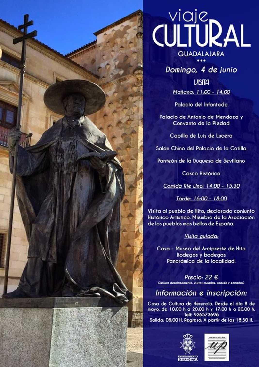 Viaje Cultural Guadalajara 1068x1512 - El Ayuntamiento organiza un Viaje Cultural a Guadalajara.