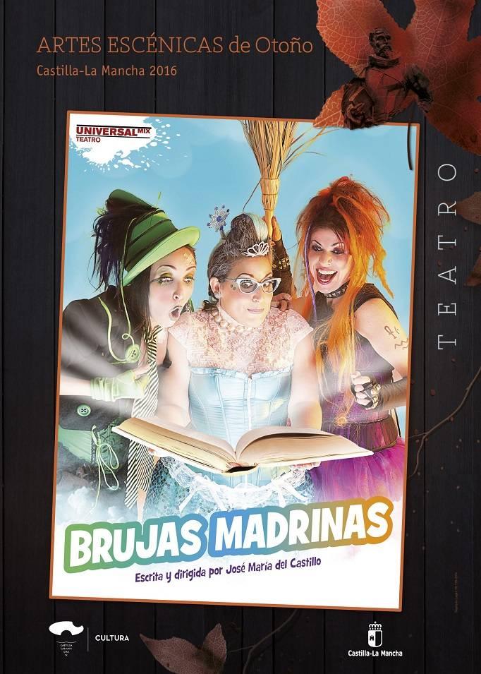 cartel universalmix teatro brujas madrinas - Teatro infantil Brujas Madrinas en Herencia