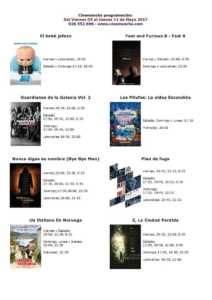 Cartelera Cinemancha del viernes 5 al jueves 11 de mayo 1