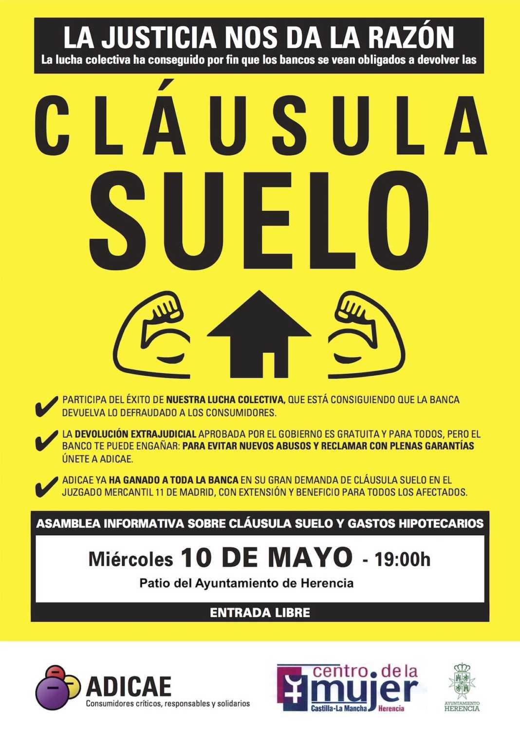 Asamblea informativa sobre la cláusula suelo el próximo 10 de mayo 4