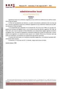 Condiciones estéticas de los edificios ubicados en la Plaza de España 1