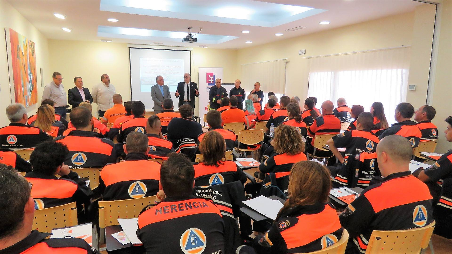 curso proteccion civil manzanares - Protección civil de Herencia se forma en Manzanares junto con 60 voluntarios