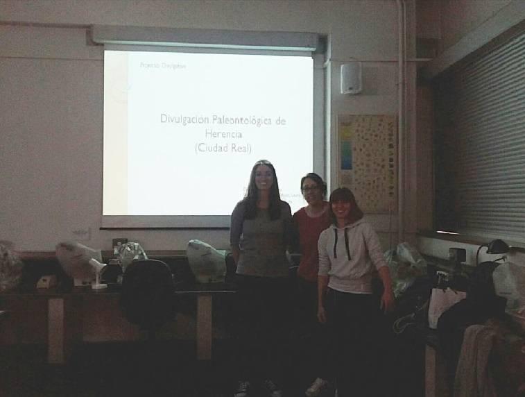 Presentación del Proyecto Divulgativo sobre la Paleontología de Herencia en la Facultad de Ciencias Geológicas de la UCM 1