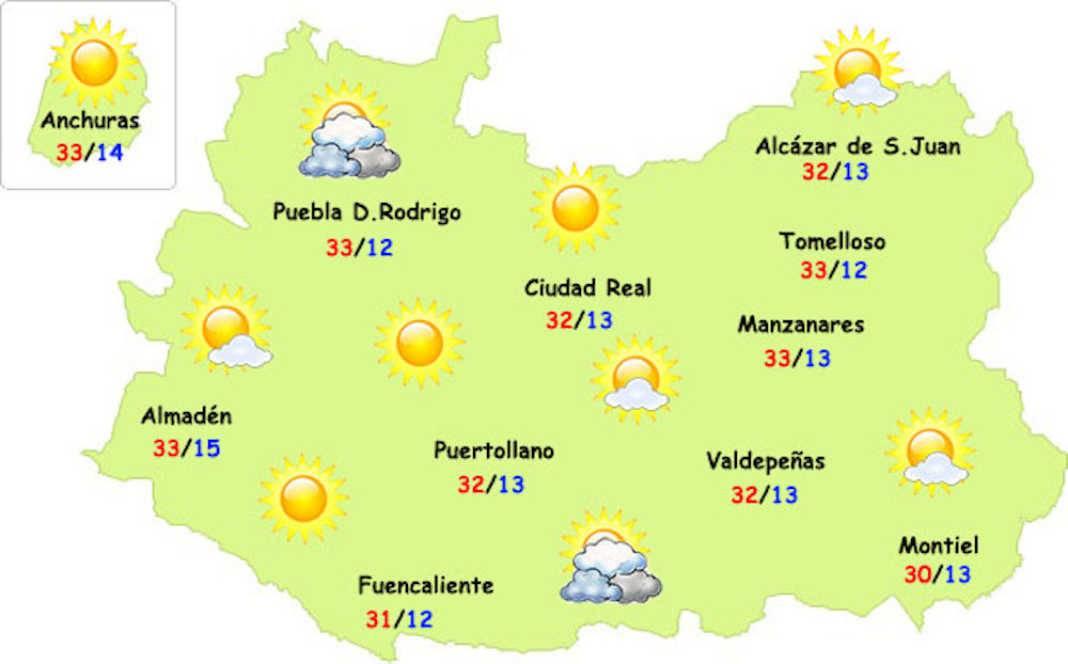 el tiempo ciudad real 22 05 17 5 1068x664 - El calor veraniego empieza a notarse en nuestra provincia