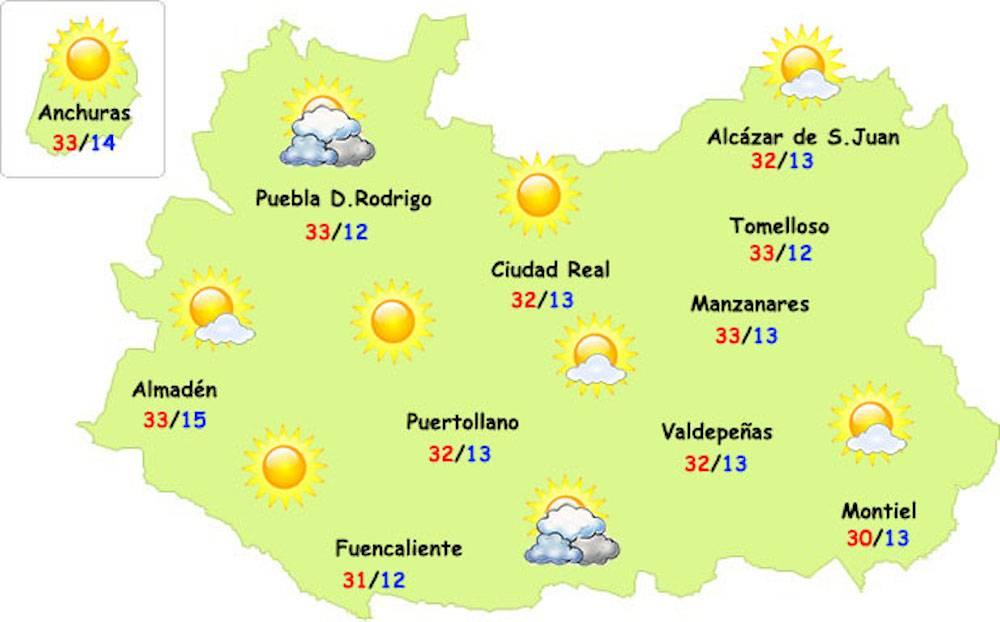 el tiempo ciudad real 22 05 17 5 - El calor veraniego empieza a notarse en nuestra provincia