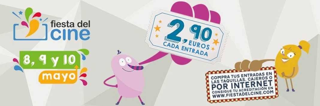 fiesta del cine 1068x353 - La XII Edición de la Fiesta del Cine se celebrará los días lunes 8, martes 9 y miércoles 10 de mayo