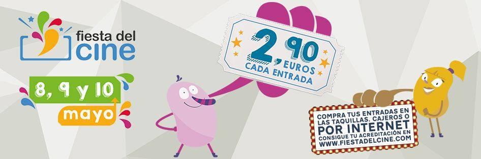 fiesta del cine - La XII Edición de la Fiesta del Cine se celebrará los días lunes 8, martes 9 y miércoles 10 de mayo