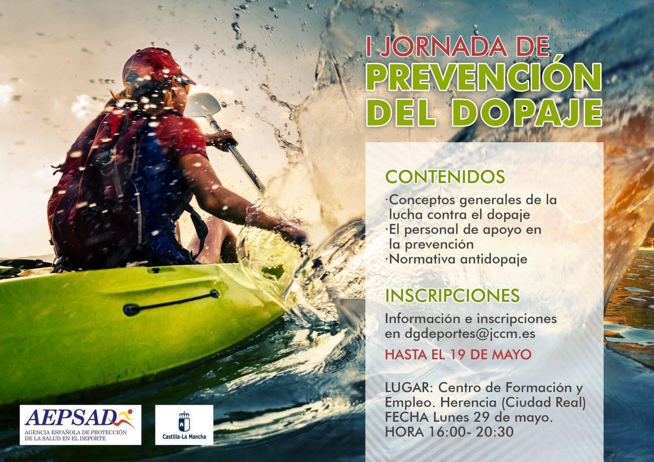 jornada prevencion dopaje deporte - I Jornada Regional de Prevención del Dopaje en el Deporte en Herencia