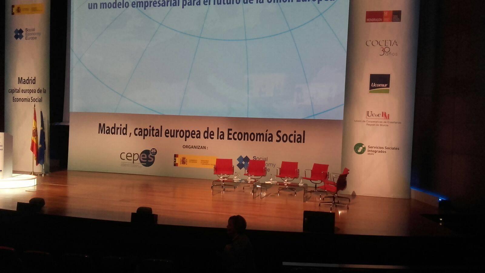 madrid capital europea economia social - El herenciano Juan Ramón Tajuelo en la Conferencia Europea de Economía Social representando a Uctacam