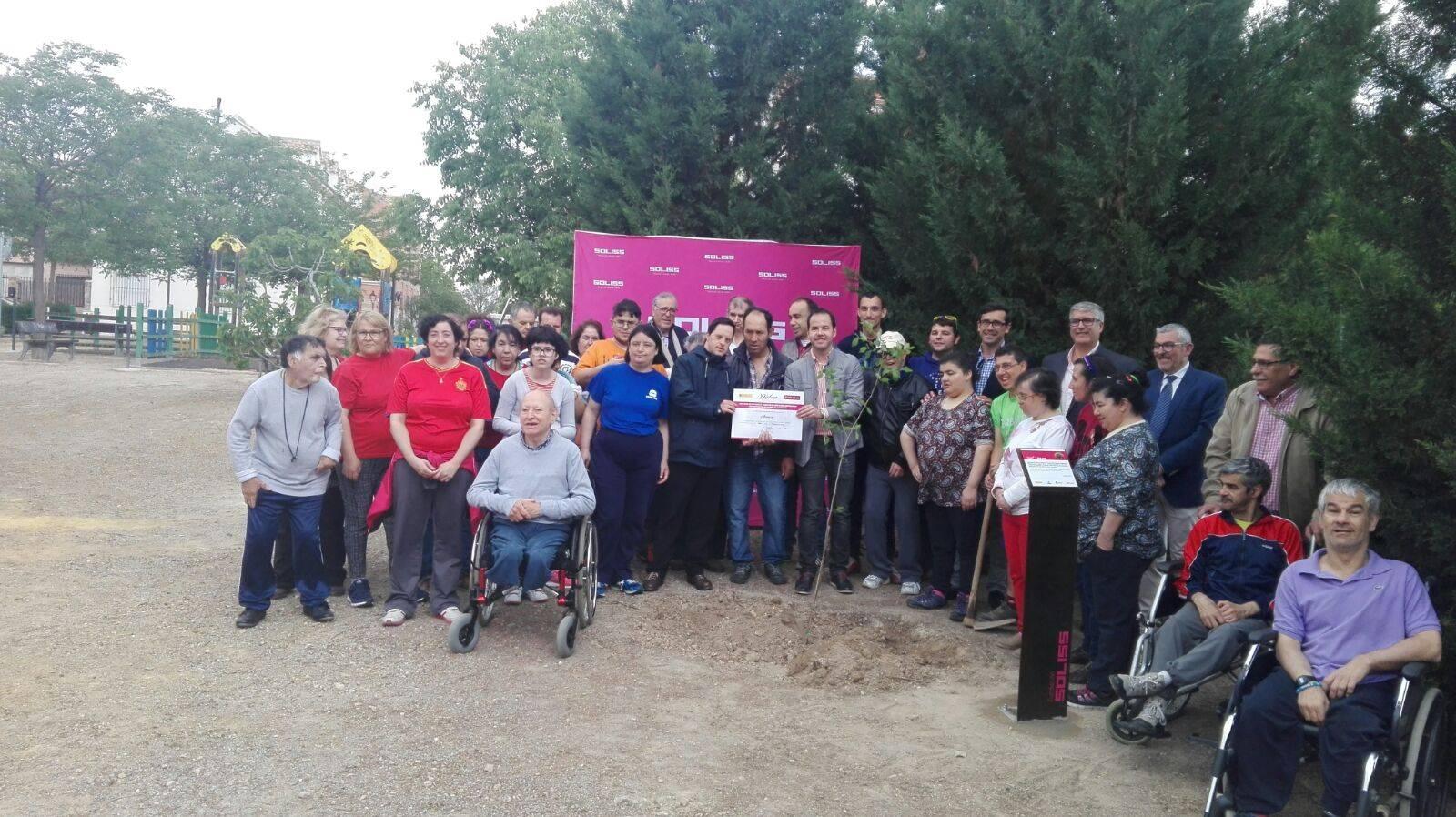 plantando olmo en herencia fundacion soliss proyecto olmo - Proyecto Olmo de la Fundación Soliss planta un pequeño Olmo en Herencia