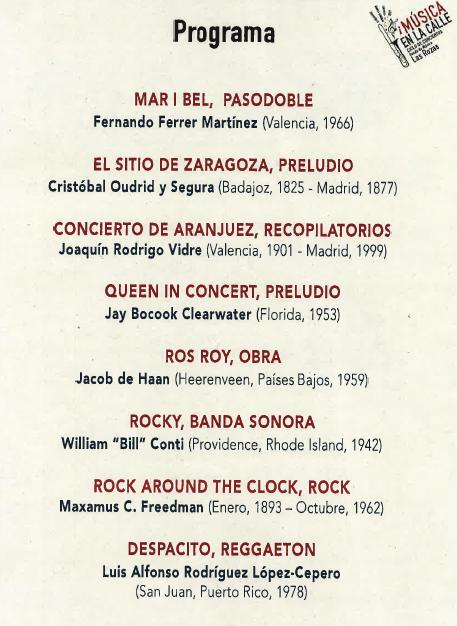 programa de la agrupacion musical santa cecilia de herencia en las Rozas - Madrid, Cuenca y Herencia acogerán varias actuaciones de la agrupación Musical Santa Cecilia