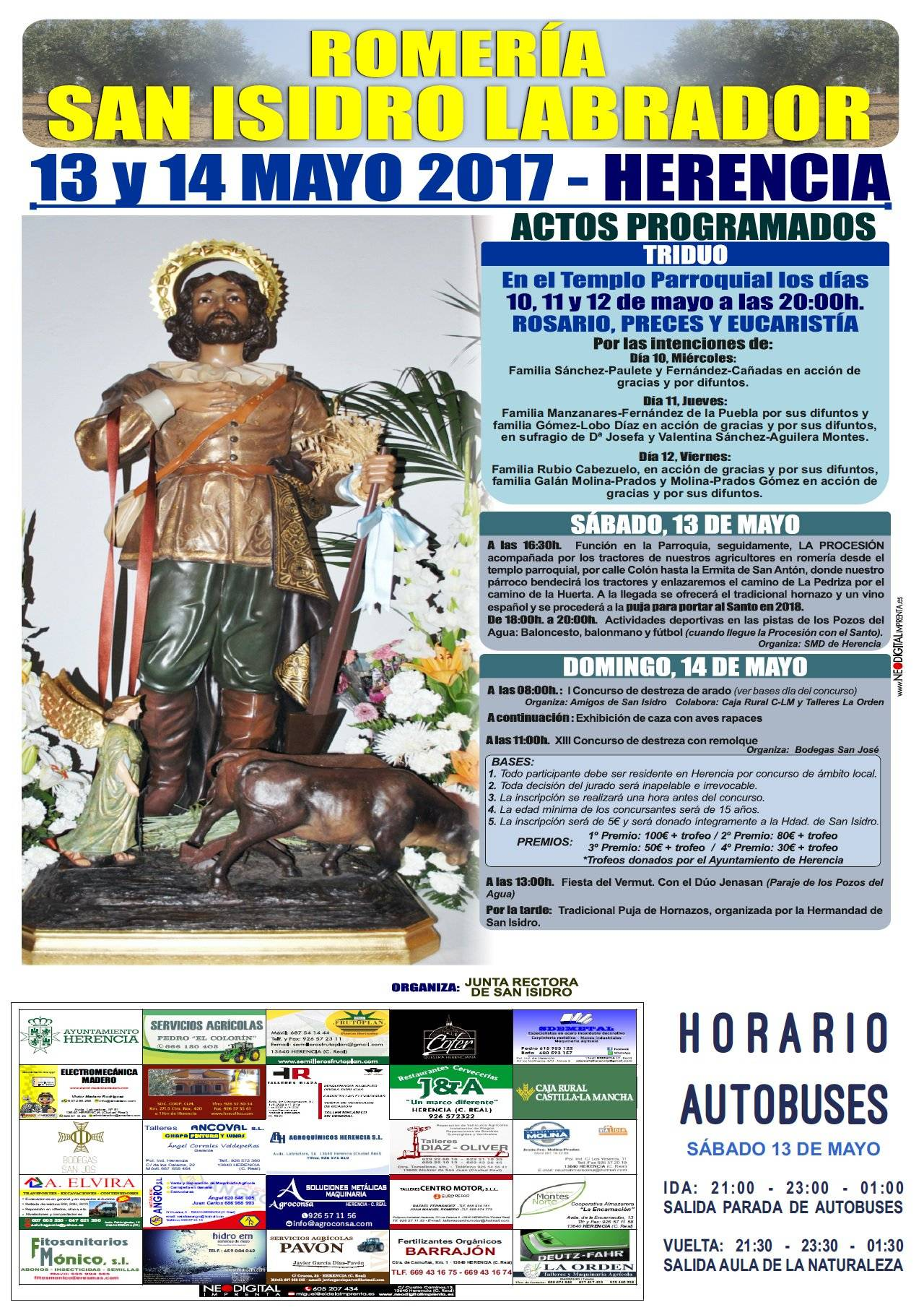 romeria san isidro labrador herencia grande - Este sábado se celebra la tradicional Romería de San Isidro Labrador