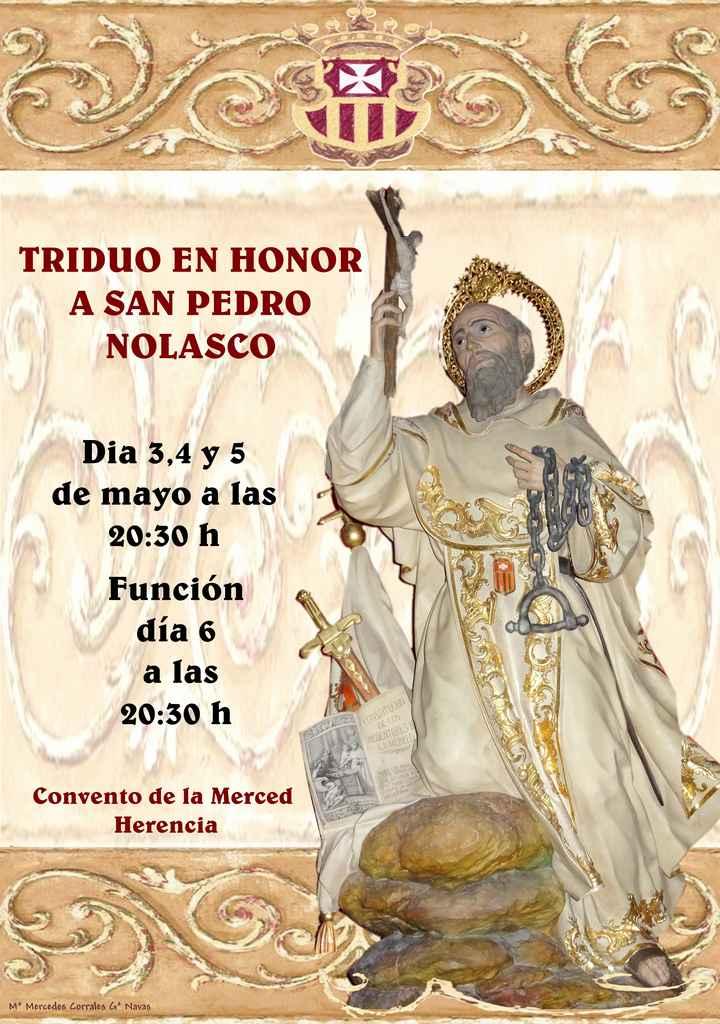 san pedro nolasco - Triduo en honor a San Pedro Nolasco