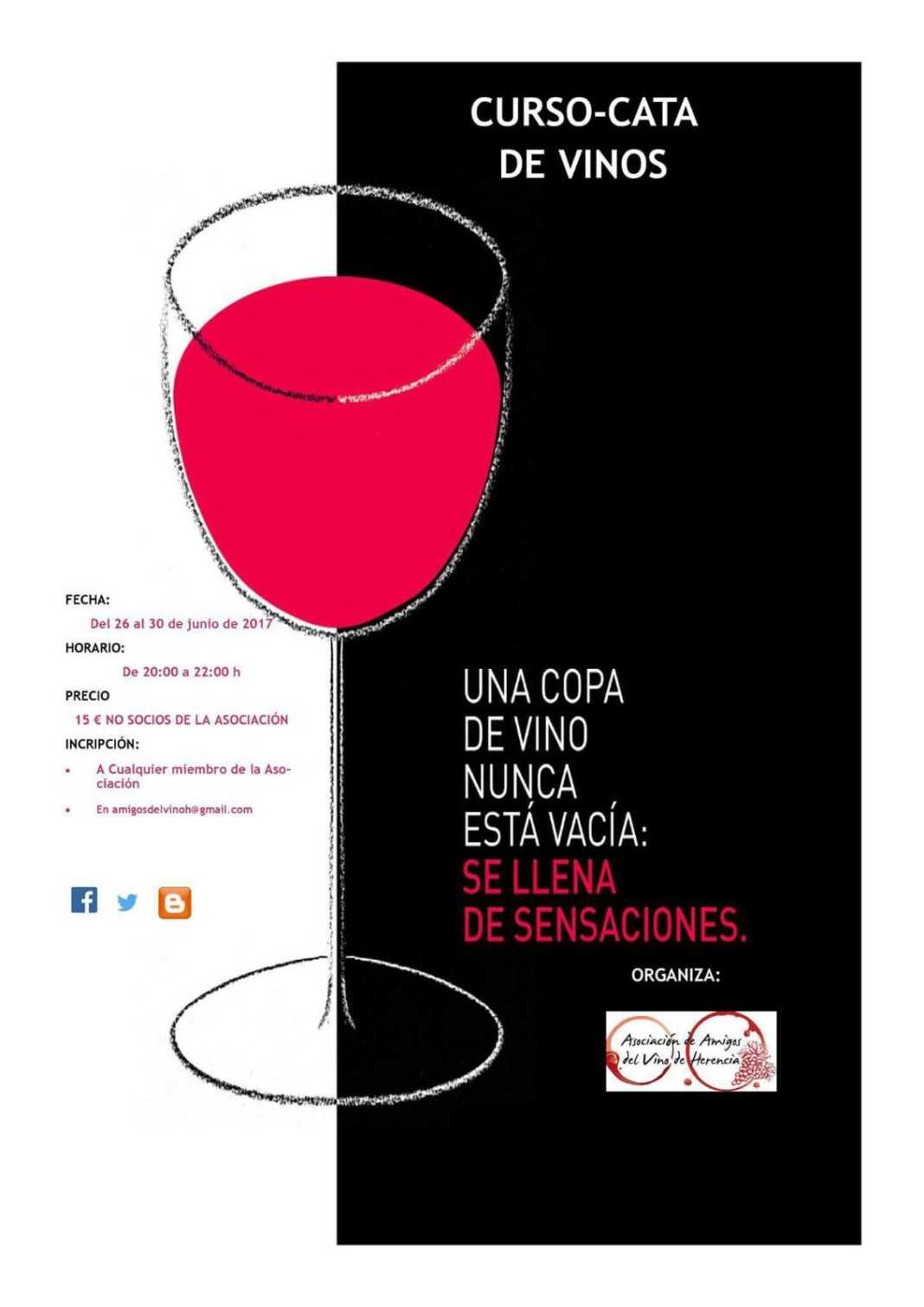 Nuevo curso de Cata de Vinos organizado por la Asoc. Amigos del Vino de Herencia 2