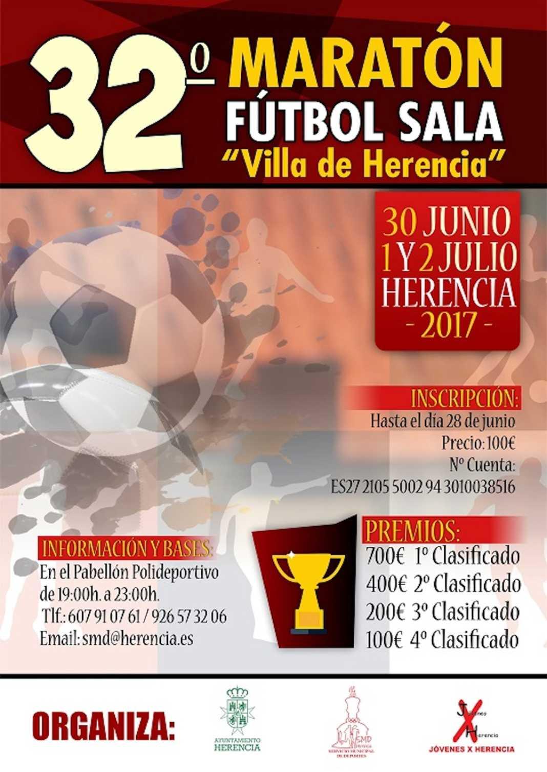 """32 maraton futbol sala herencia cr 1068x1505 - El Maratón Nacional de Fútbol Sala """"Villa de Herencia"""" celebra la 32º edición"""