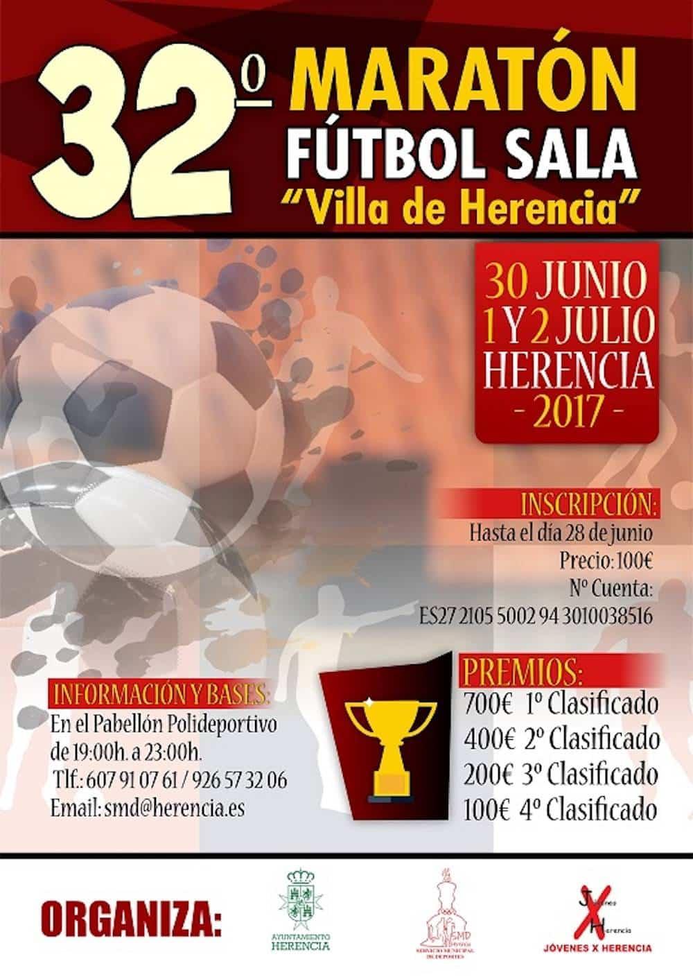 """32 maraton futbol sala herencia cr - El Maratón Nacional de Fútbol Sala """"Villa de Herencia"""" celebra la 32º edición"""