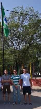 Acto entrrega bandera verde 9 158x420 - Entregada la distinción de Ecoescuela al CEIP Carrasco Alcalde