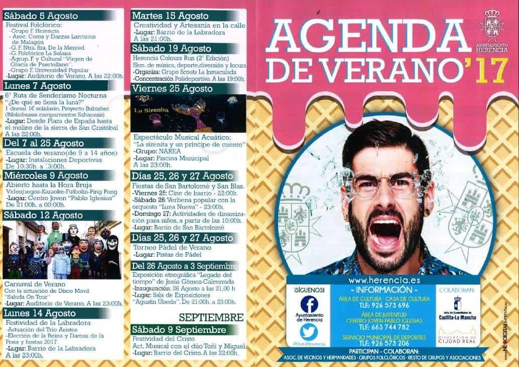 Agenda de verano 2017 herencia 1 - Agenda cultural y deportiva para este verano en Herencia