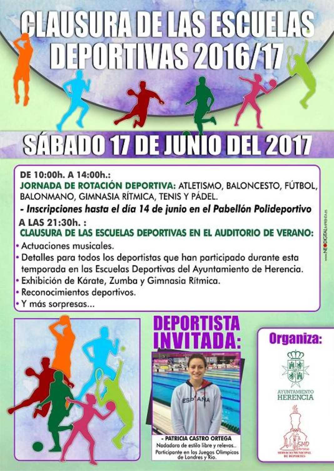 Cartel 2017 clausura deportes 1068x1504 - Clausura de las Escuelas Deportivas