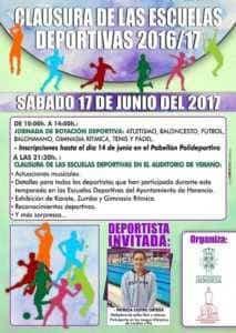 Cartel 2017 clausura deportes 213x300 - Clausura de las Escuelas Deportivas