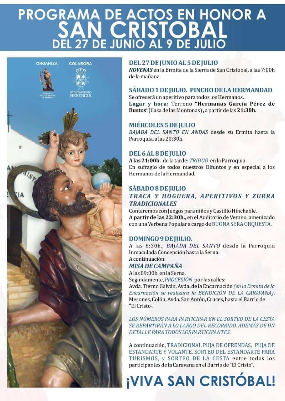 Programa de actos en honor a San Cristobal 1
