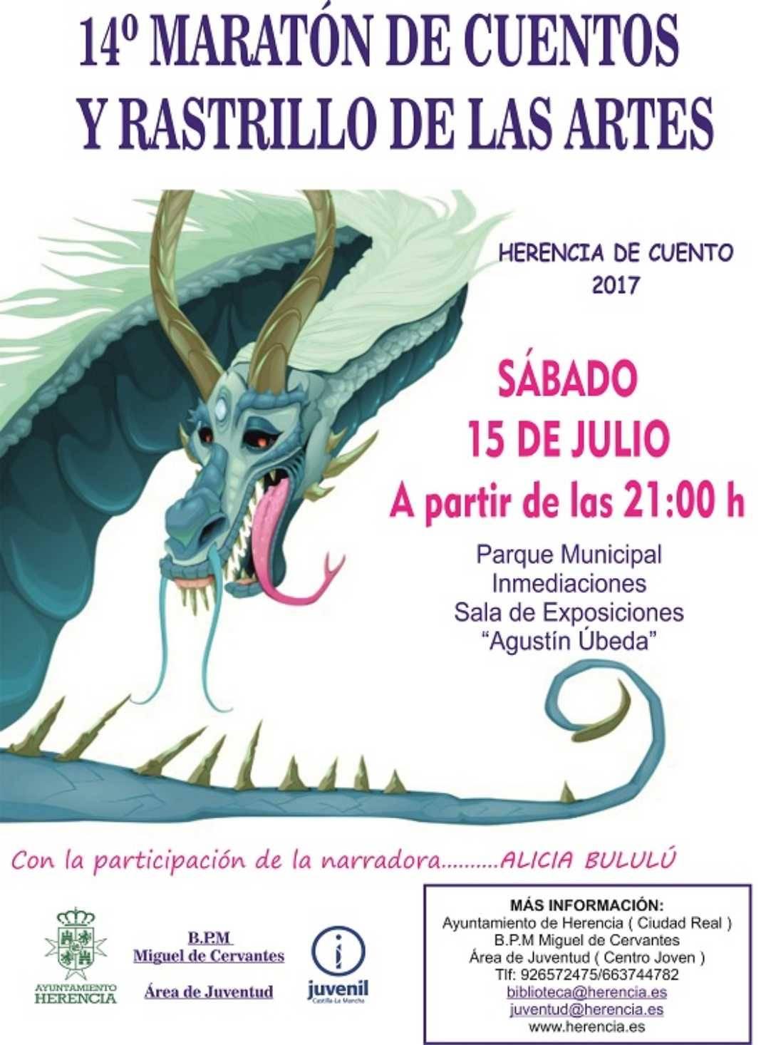 Cartel maratón 2017 1068x1466 - 14º Maratón de cuentos y Rastrillo de las Artes