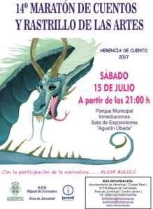 Cartel marat%C3%B3n 2017 219x300 - 14º Maratón de cuentos y Rastrillo de las Artes