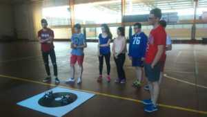 El equipo de robótica visita el CEIP Carrasco Alcalde 1