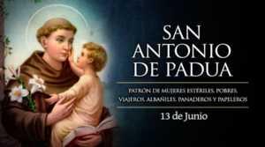 SanAntonioDePadua 13Junio 300x167 - Triduo en honor a San Antonio del 11 al 13 de junio