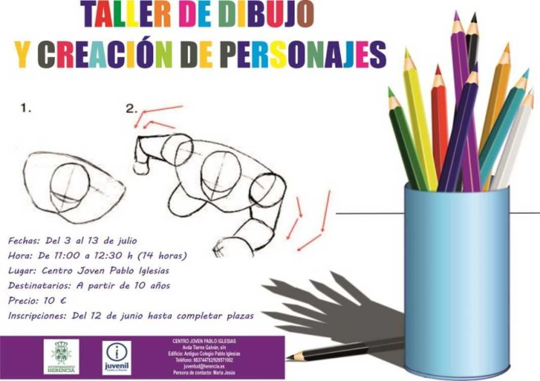 Taller creación personjes 1068x754 - Taller de Dibujo y Creación de Personajes