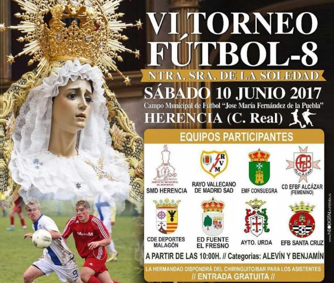 El VI Torneo Fútbol-8 Ntra. Sra. de la Soledad será en junio. 2