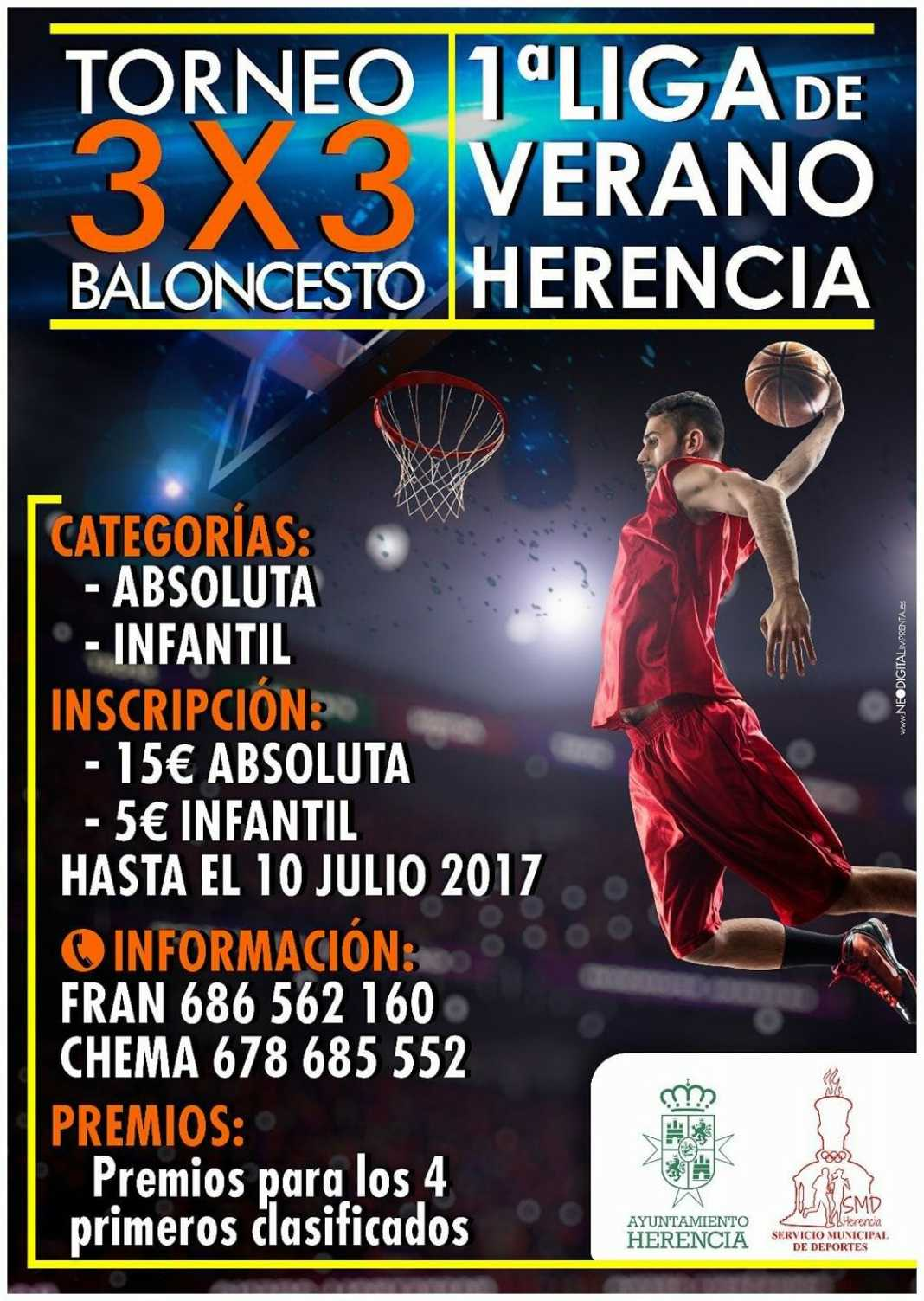 baloncesto 3x3 2017 herencia 1068x1503 - Torneo 3×3 de Baloncesto de Verano 2017