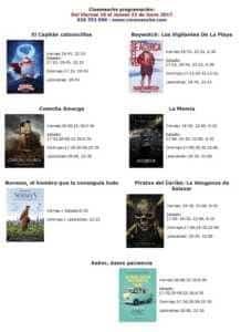 Cartelera Cinemancha del viernes 16 al jueves 22 de junio. 1