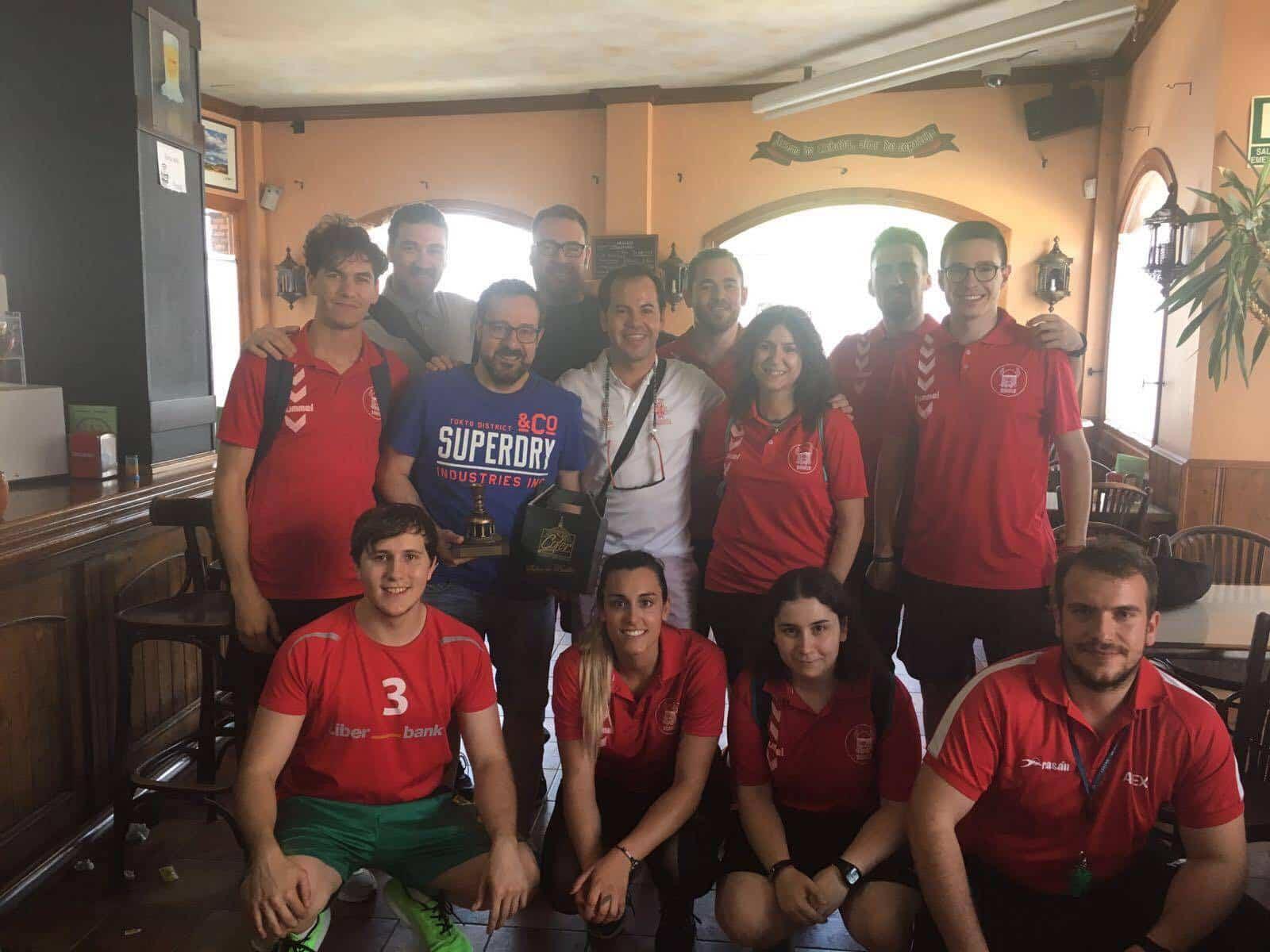 Javier Márquez en I Clinic de Balonmano en Herencia