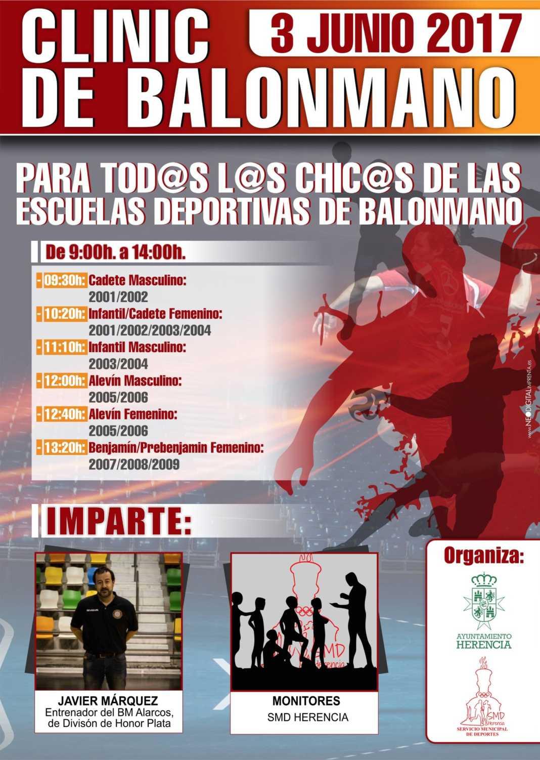 Clinic de Balonmano en Herencia 4