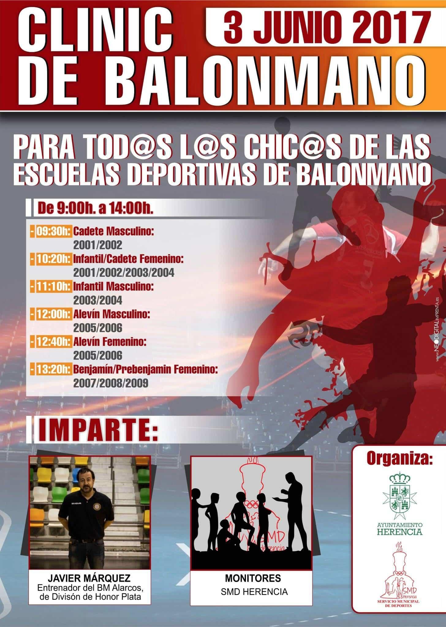 clinic de balonmano herencia - Clinic de Balonmano en Herencia