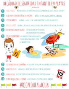 decalogo de seguridad en las playas 233x300 - Herencia.net se une a la campaña que salva vidas #OjoPequeAlAgua