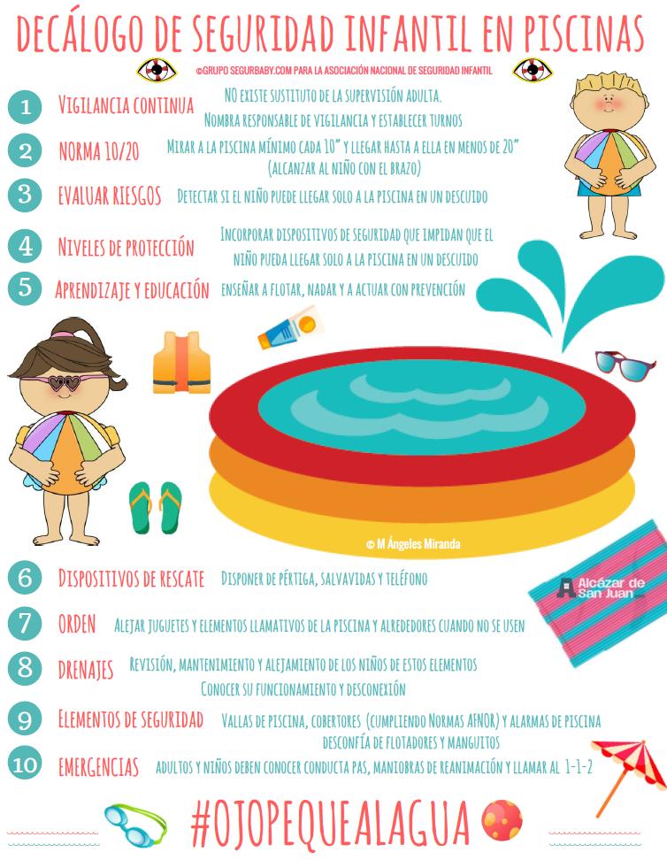 Decálogo de Seguridad Infantil en piscinas