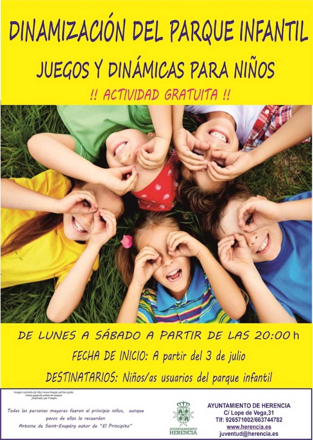 dinamizacion parques Herencia 1068x1502 - Comienzan las actividades para dinamizar el uso del Parque Infantil