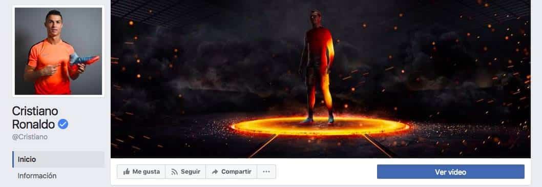 Facebook de Cristiano Ronaldo